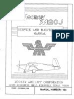 Mooney Service Manual M20J Vol. 1 of 2
