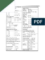 Dynamics Formula Sheet