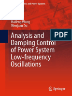 (Power Electronics and Power Systems) Haifeng Wang, Wenjuan Du (Auth.)-Analysis and Damping Control of Power System Low-frequency Oscillations-Springer US (2016)