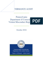 Performance Audit of PA Department of Corrections