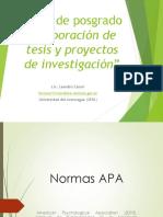 Normas APA Curso de Postgrado 2016