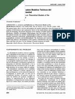 Analisis y Reflexion sobre modelos teoricos del Proceso Salud-enfermedad