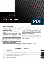 2009 Dodge Durango User Manual