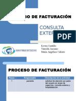 Facturación consulta externa