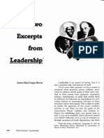 Two Excerpts From Leadership