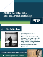 lesson 2 - mark rothko and helen frankenthaler