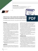Protocolo de Carga en Sobredentaduras Sobre Implantes Con Ataches Unitarios