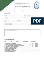 Ficha Clinica de Ortodoncia