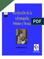 3. Recolección de información