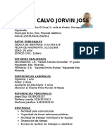 Curriculotonito Calvo Jorvin Jose