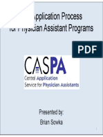 The Application Process for Physician Assistant Schools