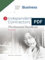 Independent Contractors the Essential Handbook PDF