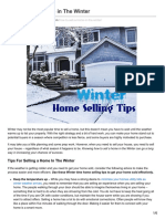 Best Winter Home Selling Tips