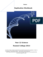 dna replication workbook