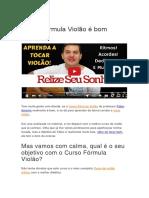 Fórmula Violão Fábio de Amorim