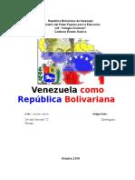 Informe Venezuela Como Republica Bolivariana