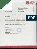 CFLAllotmentofEquitySharespursuanttoexerciseofESOSAugust032016