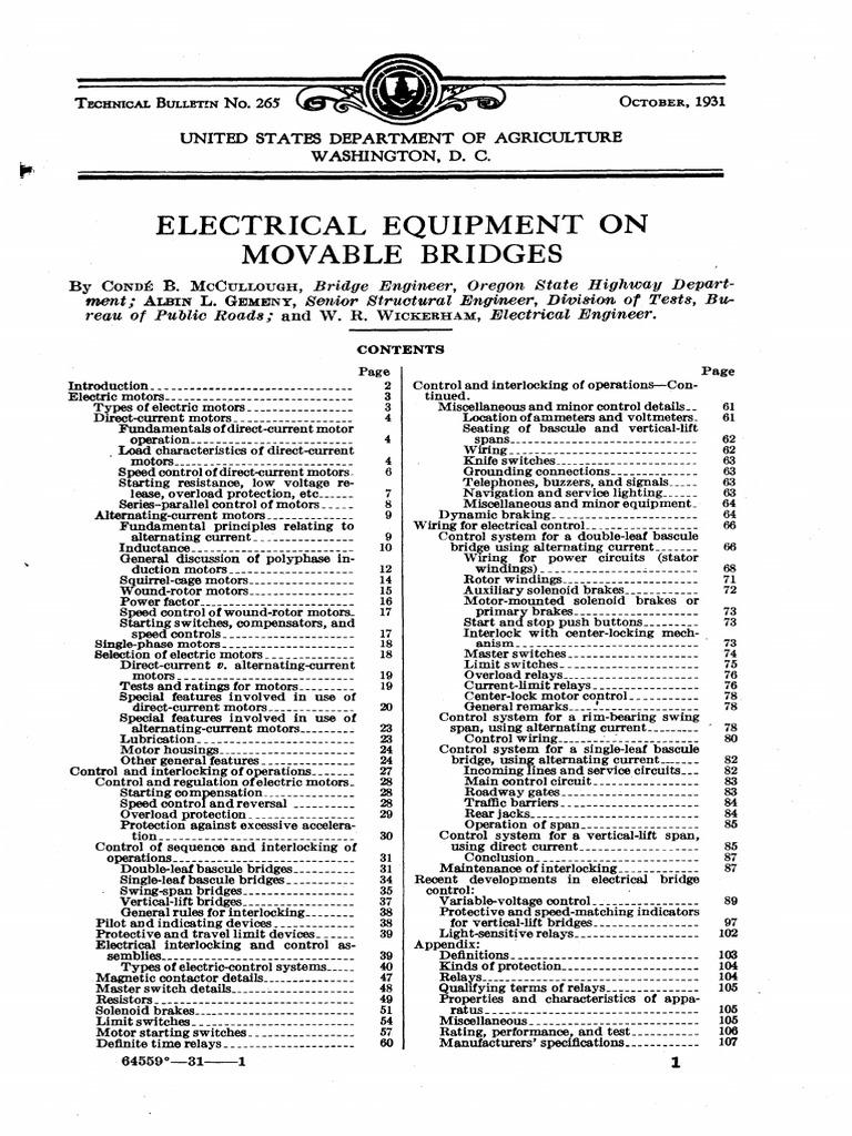 Electrical Equipment On Movable Bridgespdf Electric Motor Buzzer Symbol Circuit Diagram Furthermore Electromag Ic Crane Current