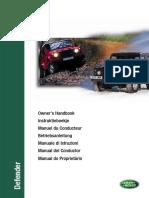 Defender 300 Tdi MY97 - Owner's Handbook