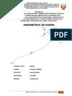 Parametros de Diseño-Agua