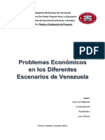 Problemas Económicos en los Diferentes Escenarios de Venezuela  Guerrero Maibeth