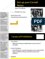 Day 8 - 2016 - Prohibition - Causes and Effects