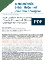 Bí mật của chi phí thấp công nghệ thân thiện môi trường nước cho tương lai  / Secrets of Environmentally Friendly, Economical, Effective Water Cleantech for The Future