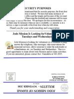 Jodo Mission Bulletin - November 2016