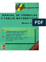 Manual de Tablas y Formulas Matematicas Series Schaum