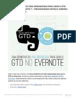 Guia Definitivo Do Vida Organizada Para Usar o GTD No Evernote – Parte 7 – Proce