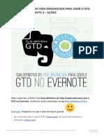 Guia definitivo do Vida Organizada para usar o GTD no Evernote – Parte 3 – Ações