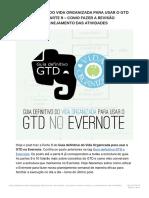 Guia Definitivo Do Vida Organizada Para Usar o GTD No Evernote – Parte 9 – Como