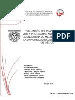 Evaluacion Curricular de La Licenciatura en Medico Cirujano 1