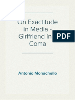 On Exactitude in Media - Girlfriend in a Coma