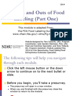 2014 Ins and Outs of Food Labeling