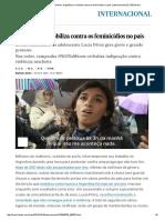 Lucía Pérez #NiUnaMenos_ Argentina Se Mobiliza Contra Os Feminicídios No País