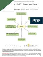 Direito Civil - Família e Sucessões - Resumo Para Provas