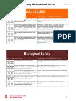 Lab Self Inspection Checklist