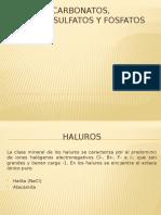 Clase Haluros, Carbonatos, Nitratos, Sulfatos y