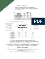Balance Metalúrgico