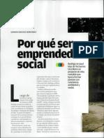 Porque Ser Emprendedor Social