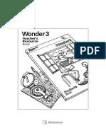 Teacher's Resource Book wonder 3