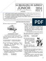 ProvaOBQ Junior 2014 Fase IIfinal