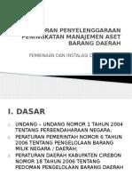 Laporan Penyelenggaraan Peningkatan Manajemen Aset Barang Daerah