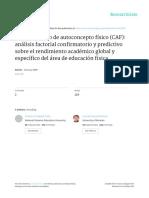 El Cuestionario de Autoconcepto Fisico CAF Analisi