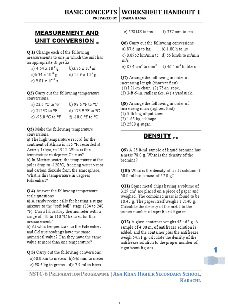 Uncategorized Recipe Conversion Worksheet chemistry worksheets handouts atomic orbital fahrenheit