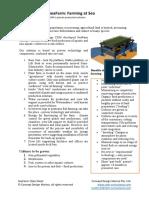 SeaFarm Data Sheet