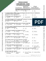 Chemistry MCQs Test Handouts