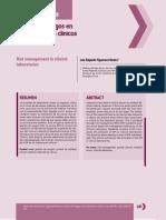 Gestion de riesgos laboratorio clinico