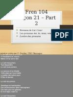 FREN104 - Semaine 5 - Lecture Pronoms COI
